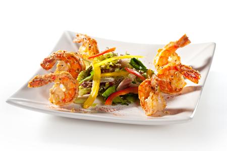 seafood salad: Seafood and Fresh Vegetables Salad