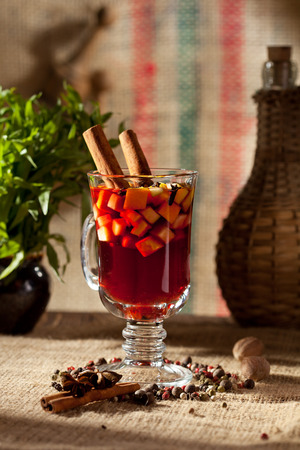 spiced: Mulled Wine Cocktail with Cinnamon Stick