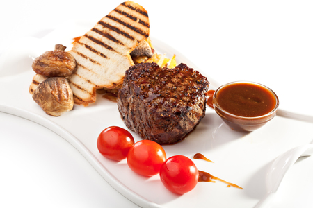 Beef Steak with Mushrooms and Sauce