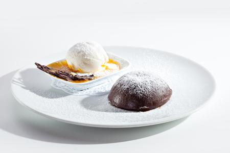 souffle: Molten Chocolate Cake with Icecream