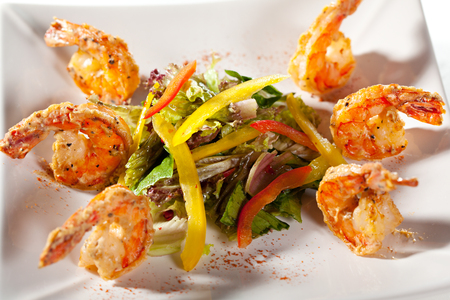 seafood salad: Seafood and Vegetables Salad