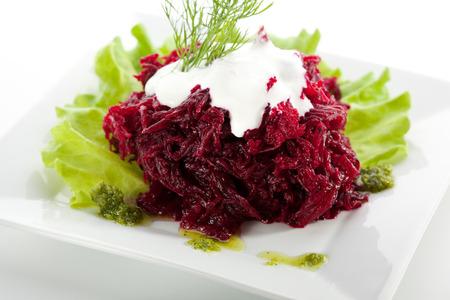 goat cheese: Beetroot Salad with Sour Cream