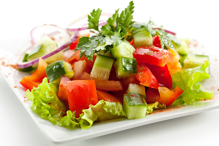 ensalada de verduras: Ensalada de tomate y pepino