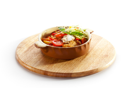 cartilaginous: Stewed Fillet of Fish with Vegetables