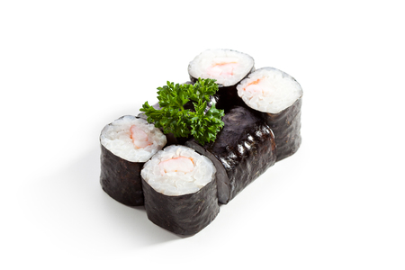 maki: Ebi Maki - Sushi Roll with Shrimps inside