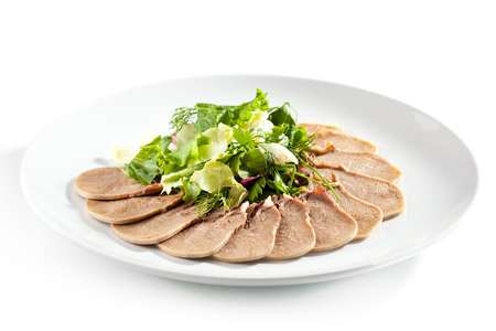garnish: Slices of Boiled Beef Tongue