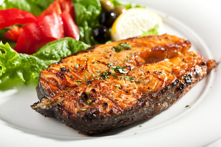 Salmon: Grilled Salmon with Lemon and Vegetables