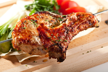 pork  loin: BBQ and Grilled Pork Loin with Vegetables