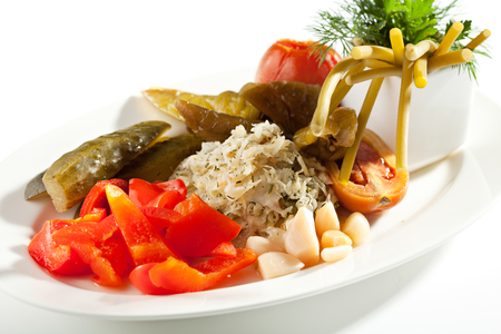 pickled: Pickled and Marinated Vegetables Plate