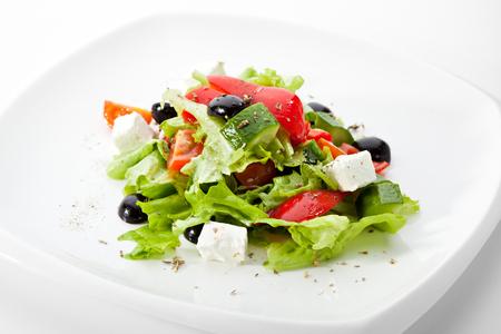 Ensalada griega (queso Feta, aceite de oliva y verduras)