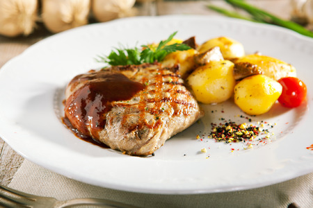 cooked: Pork Steak with Potato and Parsley