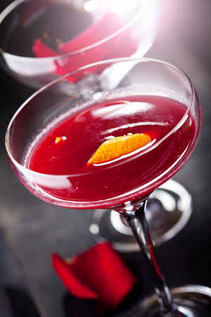 gin: Bitter Sweet Cocktail - Gin, Campari and Berry Syrup