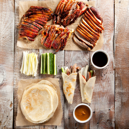 peking: Peking Duck on Parchment with Sauce