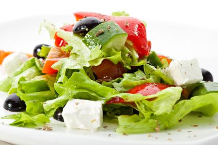 Ensalada griega (queso feta, oliva y verduras)
