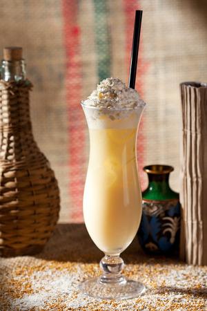 pina colada: Pina Colada Topped with Whipped Cream