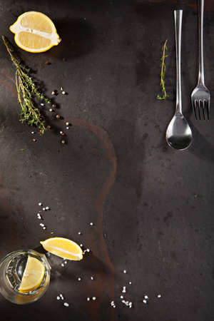 ingredient: Food Ingredient with Spices on Black Background