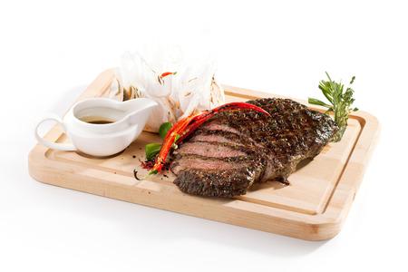 Bistecca alla griglia con rosmarino