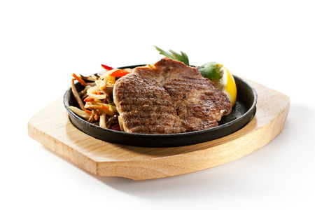 pork: Grilled Pork Chop (Neck Cut) with Pan-Fried Vegetable