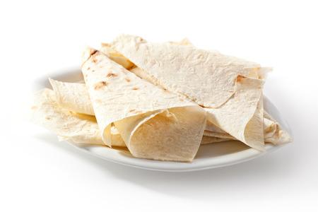 armenian: Lavash. Thin Armenian bread. Wheat flatbread Stock Photo
