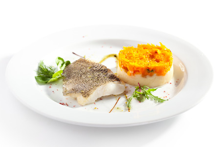 zander: Fish Fillet with Mashed Potato and Carrot