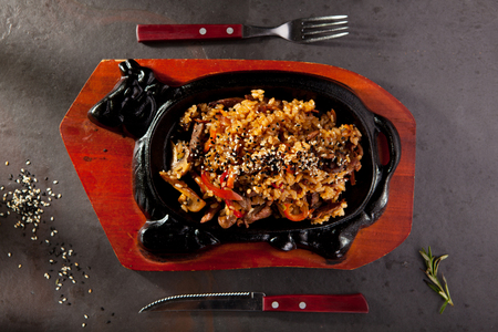 pepe nero: Fried Rice with Beef and Vegetables