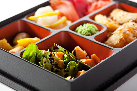 bento: Bento Lunch - Sushi, Salad and Meal