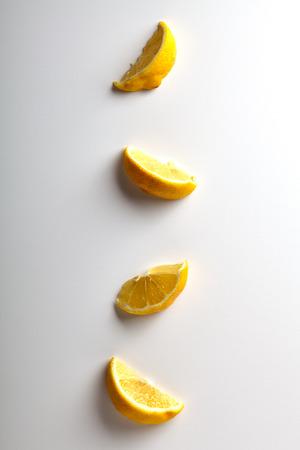 sweetstuff: Lemon Slices Pattern on White Background