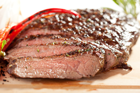 Grilled Flank Steak with Rosemary 写真素材