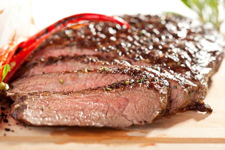ローズマリーの焼きフランク ステーキ 写真素材