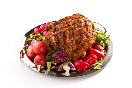 baked meat: Baked Meat with Freshness Vegetables