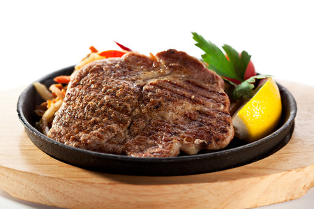 chops: Grilled Pork Chop (Neck Cut) with Pan-Fried Vegetable