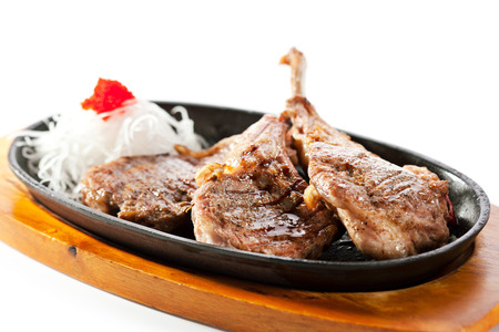 mutton: Asian-Style Pan-Fried Lamb Chops with Daikon