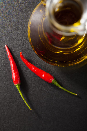 Olive Oil and Red Chili Pepper