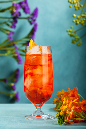 water cooler: Summer  Cocktail -  Spritz Aperol. Summer Cocktail and Flower Concept