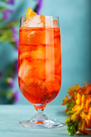 Summer  Cocktail -  Spritz Aperol. Summer Cocktail and Flower Concept