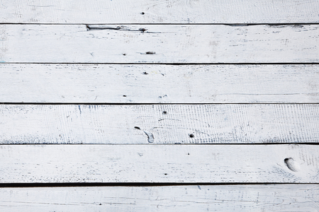 white wood floor: White and Blue Wood Plank as Background. White Wooden Texture Table. Top View