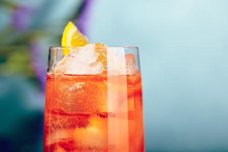 spritz: Summer  Cocktail -  Spritz Aperol. Summer Cocktail and Flower Concept