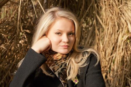 Autumn portrait of blonde girl Stock Photo - 8515696
