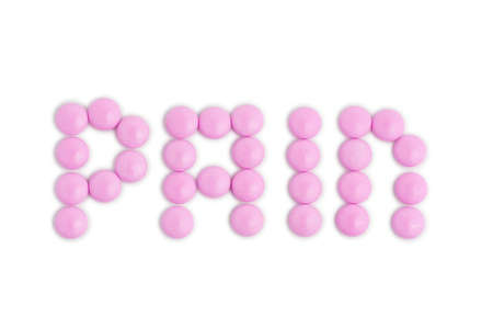 A group of pills spelling the word health isolated on a white background Stock Photo - 9312651