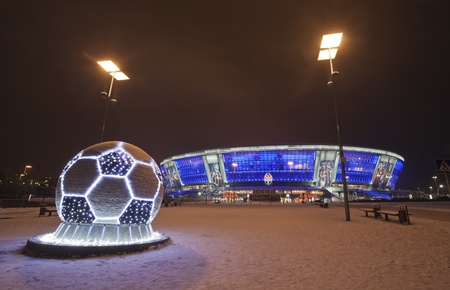 DONETSK, UKRAINE, 2011, 24, December - Stadium Donbass Arena Stock Photo - 12143441