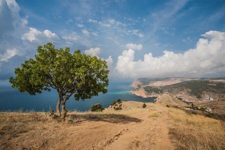 View to Cembalo fortress in Balaklava (Balaklava, Crimea, Ukraine)