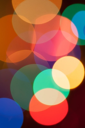 Abstract bright circular bokeh background of Christmaslight Stock Photo - 16755848