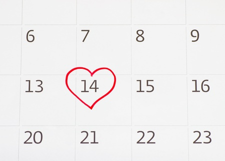 Calender page with a detail of the valentine day Stock Photo - 17794630