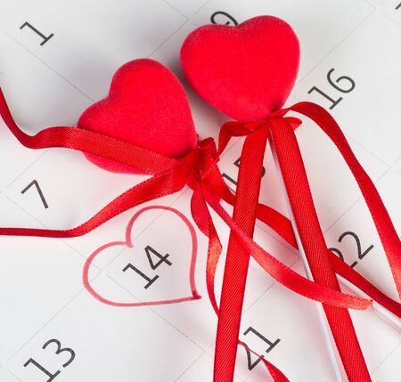 Calender page with a detail of the valentine day Stock Photo - 17794647