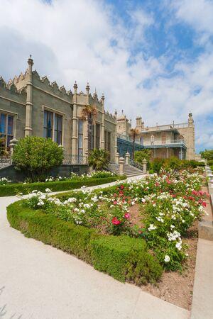 voroncov: Vorontsov Palace, bushes and mountains, Crimea, Ukraine