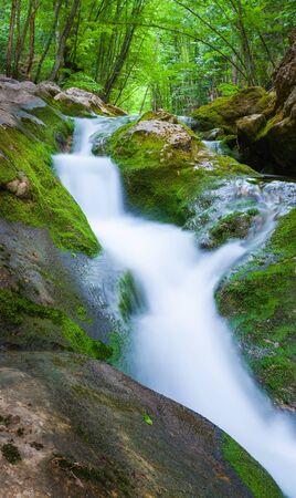 cascade in big canyon, Crimea, Ukraine Stock Photo - 18009253