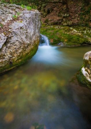 cascade range: cascade in big canyon, Crimea, Ukraine