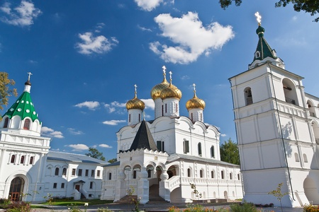 olden day: Kostroma. Ipatievsky monastery. Summer shot, Russia Stock Photo