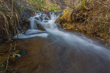 river cascade in big canyon, Crimea, Ukraine photo