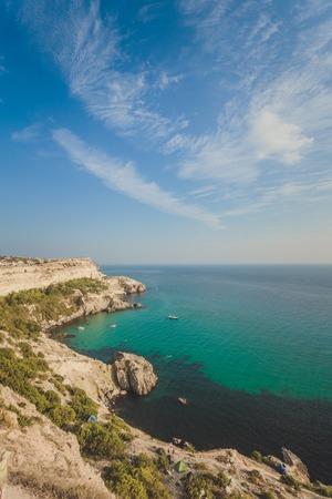 Balaklava town and Bay, Black sea, Crimea, Ukraine photo